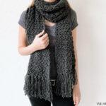Amazing Andrea sjaal, gratis haakpatroon