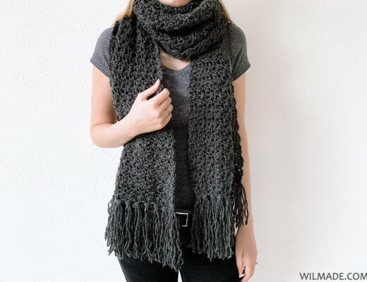 Amazing Andrea Scarf - free fast crochet scarf pattern by Wilmade