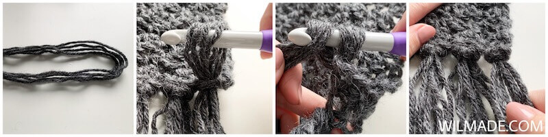 Amazing Andrea Scarf -free fast crochet scarf pattern - fringes tutorial