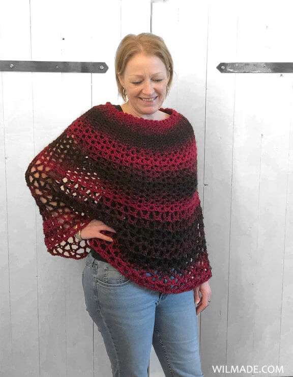 Perfect Gift Poncho - free poncho crochet pattern - Alice