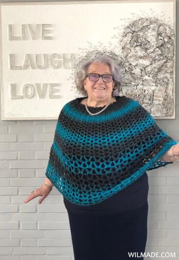 Perfect Gift Poncho - free poncho crochet pattern - Granny