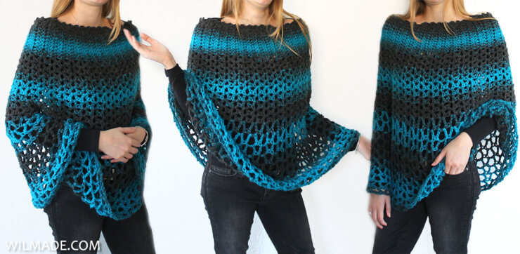 Perfect Gift Poncho - free poncho crochet pattern - banner