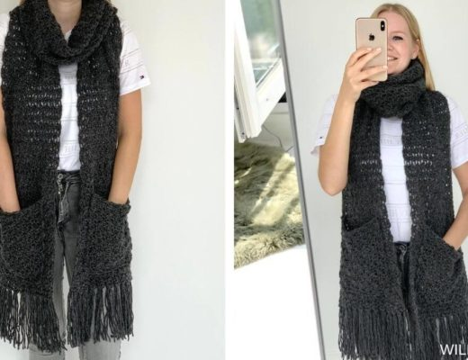 awesome andrea scarf with pockets