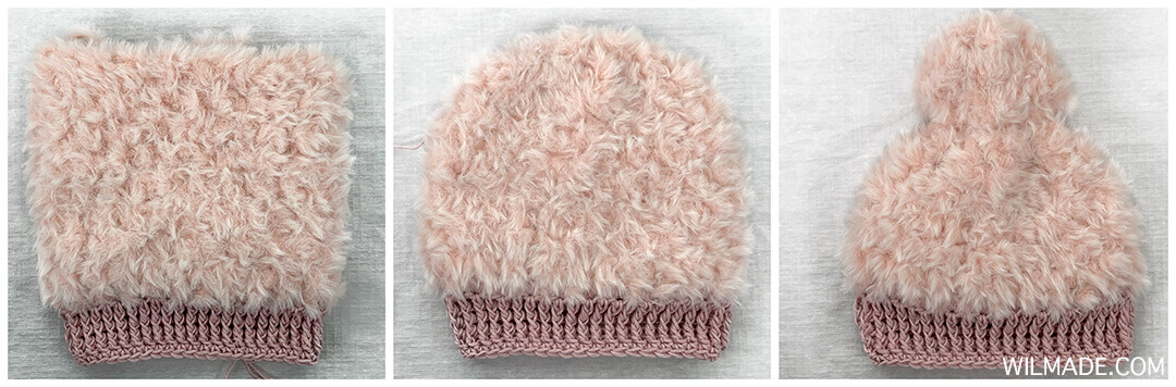 How to make the pom pom of the fluffy crochet winter hat