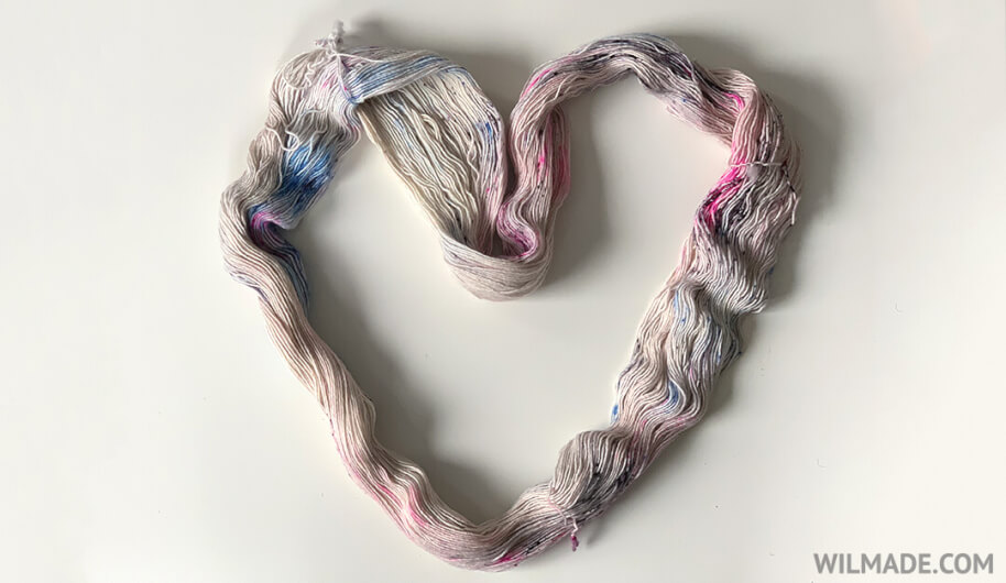 How to unwind a hank of yarn tutorial - unwind a hank heart shape