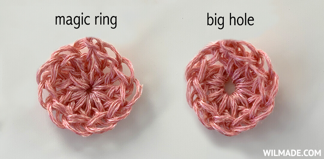 crochet magic ring loop circle - banner