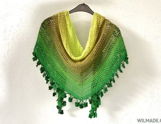Wish Me Luck Shawl - crochet shamrock shawl - free crochet pattern