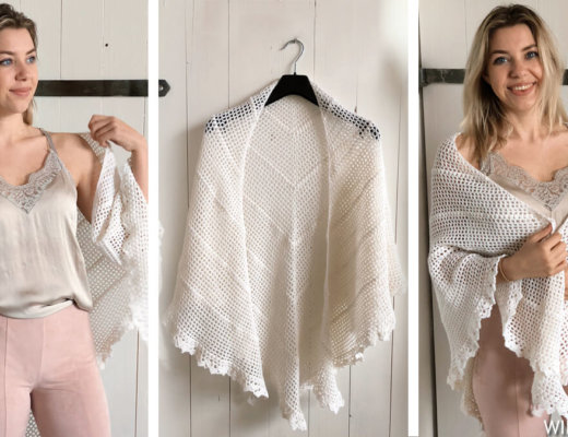 Crochet wedding shawl - free crochet bridal pattern