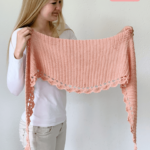 To The Point Shawl - free crochet pattern round shawl shape Pinterest pin