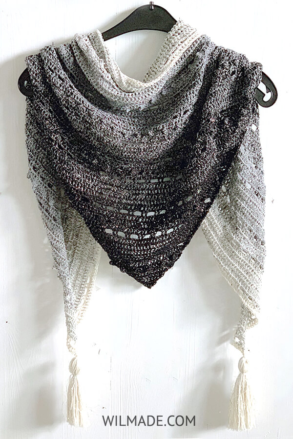 Pop-Up Shawl - free crochet pattern for beginners - pinterest pin