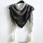 Pop-Up Shawl - free crochet triangle scarf for beginners