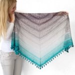 Wish Me Luck Shawl - free triangle crochet pattern by Wilmade made with Scheepjes Whirl