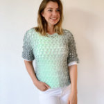 Easy crochet top pattern using Scarfie yarn by Wilmade