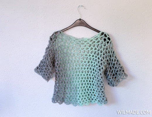 Easy summer crochet top t-shirt for beginners by Wilmade