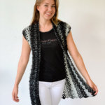 Sleeveless crochet vest by Wilmade