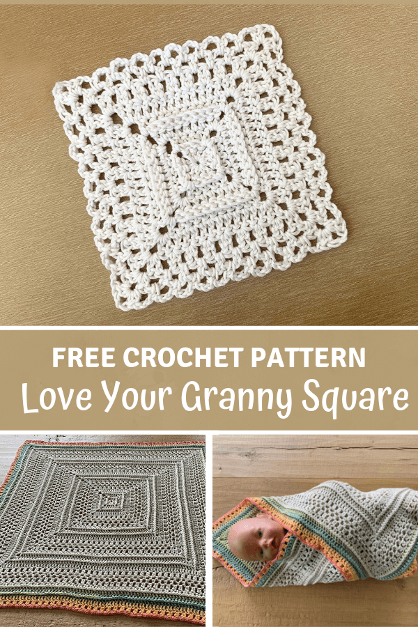 Love Your Granny Square - pinterest pin wilmade