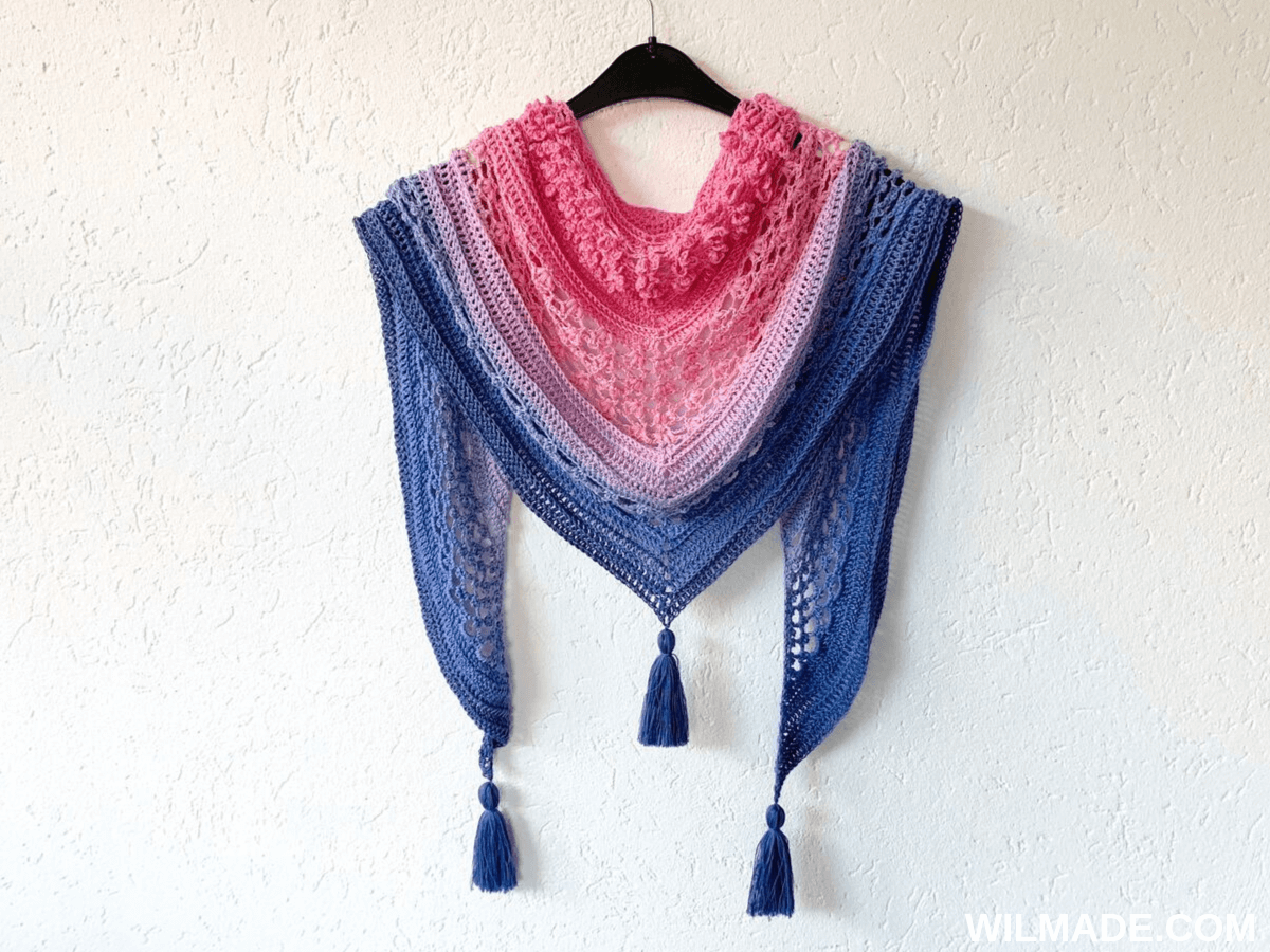 Vela Flower Shawl - free crochet shawl pattern by Wilmade