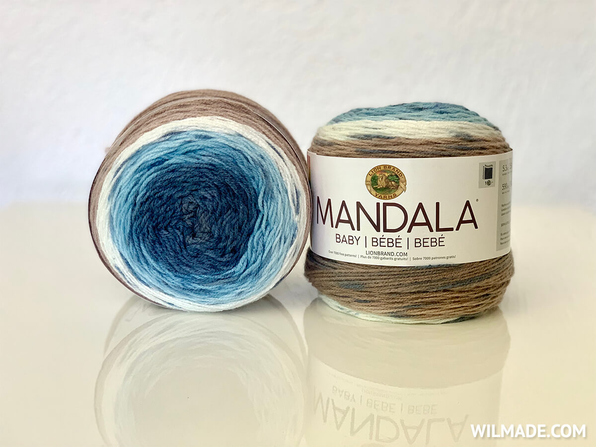 Lion Brand Mandala Baby Wishing Well yarn