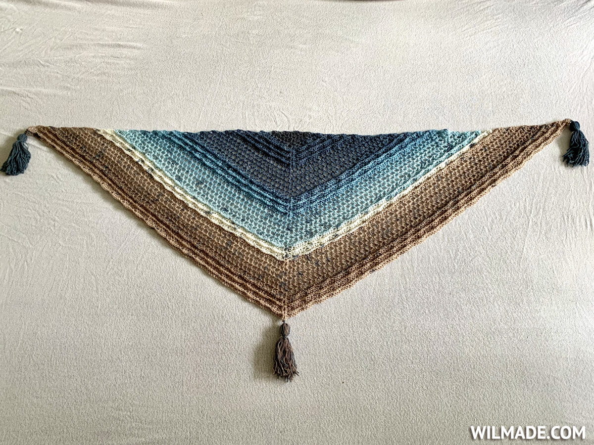 Shell Stitch Wave Shawl - Simple crochet shawl for beginners - free pattern