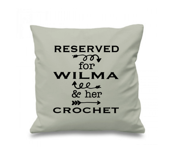 unique crochet gifts ideas - customized pillow with name