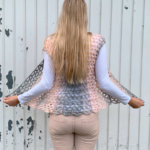 Crochet poncho vest - free crochet pattern made with Scarfie yarn