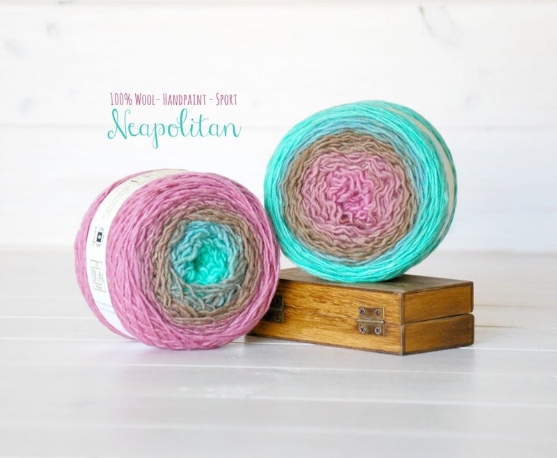 Gradient yarn cakes - hand dyed ombre yarn