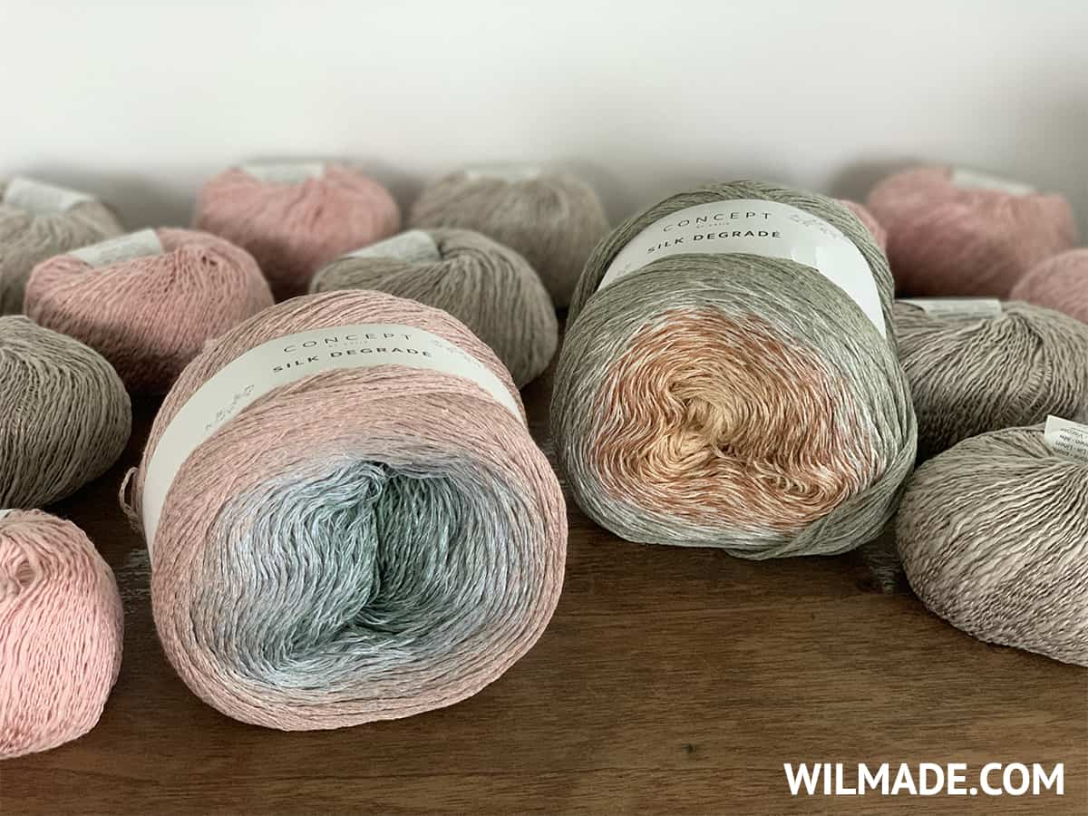 Katia Silk Degrade - gradient yarn cake for shawls