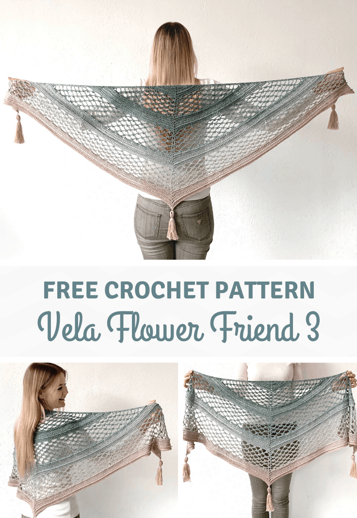 Vela Flower Shawl 3 - floral shawl - pinterest pin