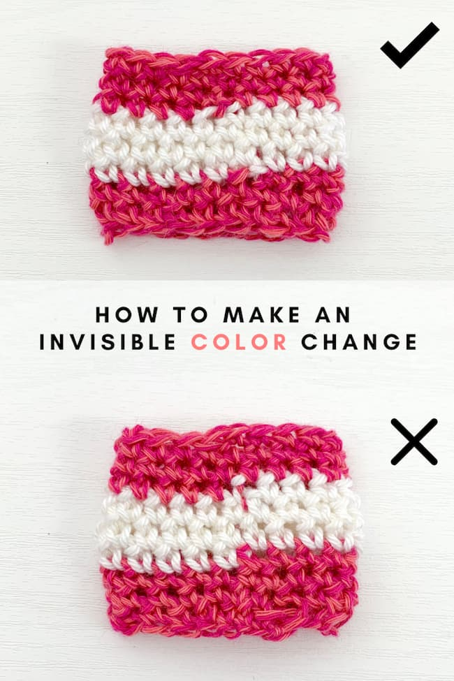 crochet Invisible color changes pinterest pin