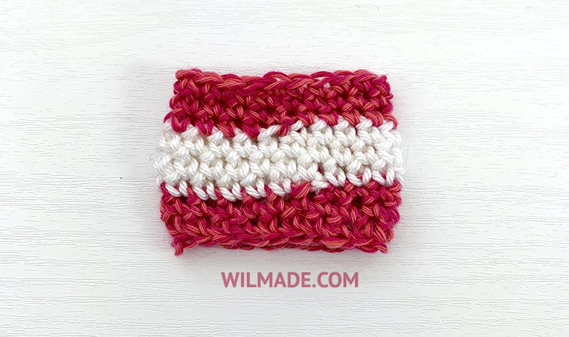 invisible color change crochet tutorial