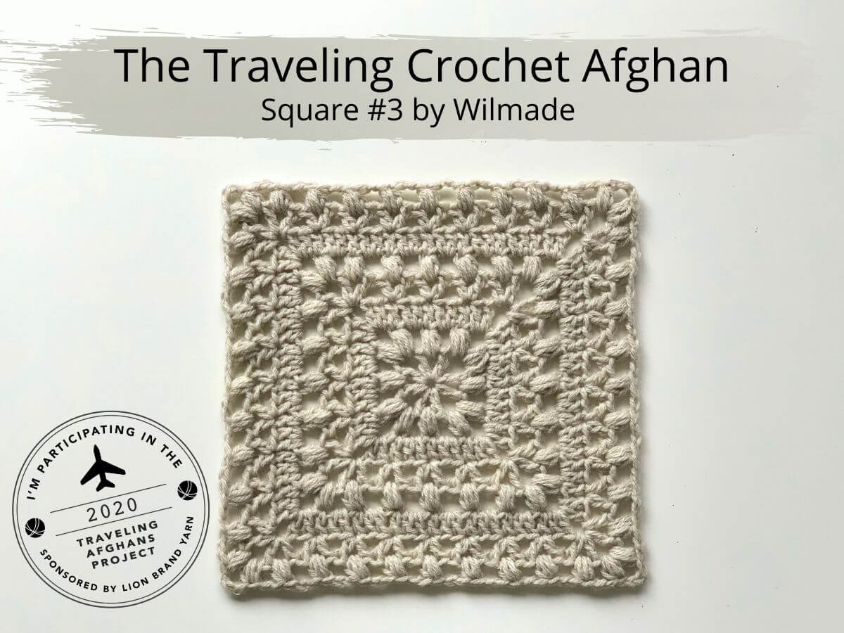 Crochet Afghan Square 3 Tulips From Holland By Wilmade