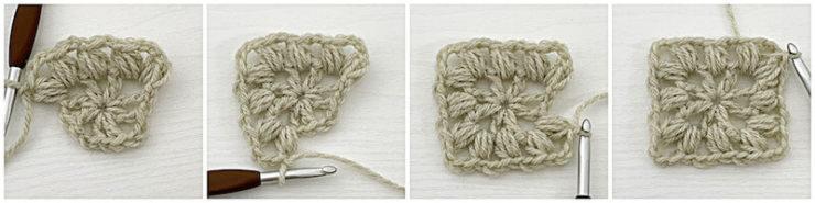 Traveling Afghan Square crochet tutorial row 2