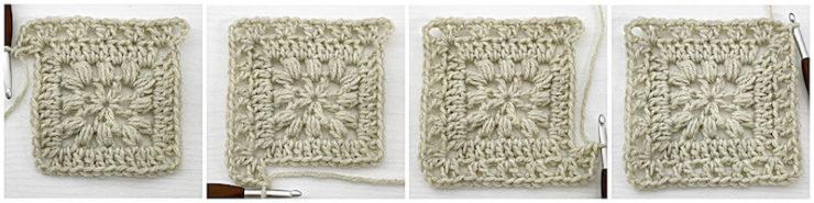 Traveling Afghan Square crochet tutorial row 4