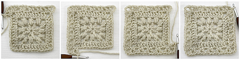 Traveling Afghan Square crochet tutorial row 4