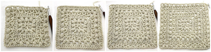Traveling Afghan Square crochet tutorial row 5 - 8