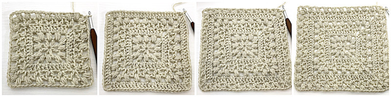 Traveling Afghan Square crochet tutorial row 5 - 8