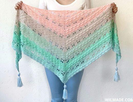 Jaycee Butterfly sjaal - gehaakte vlindersjaal - gratis haakpatroon door Wilmade