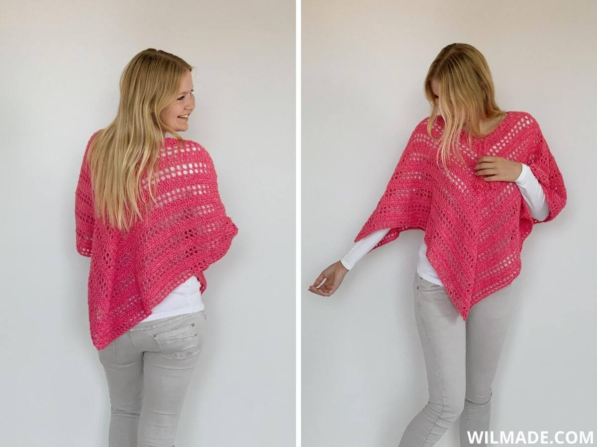 Such Simple Poncho: gehaakte poncho. Gratis haakpatroon voor beginners met video