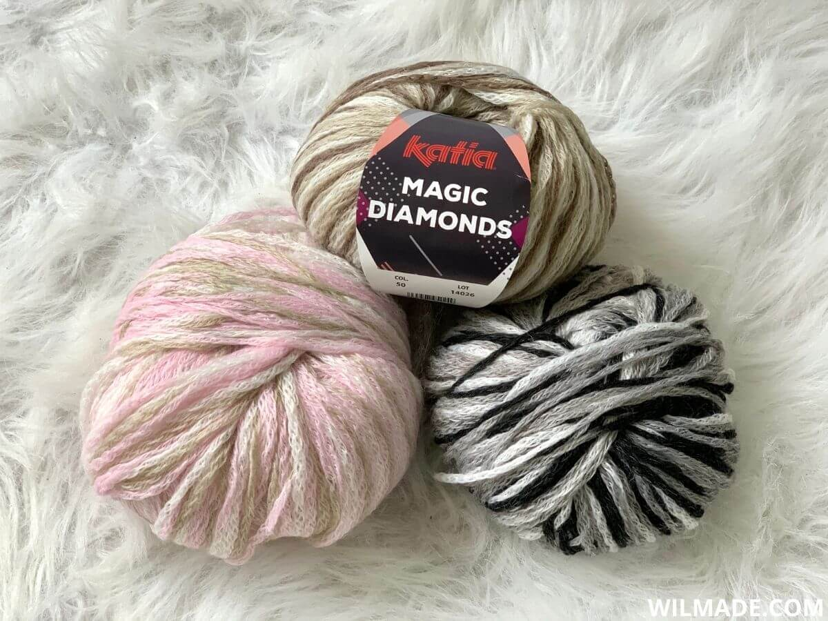 Katia Magic Diamonds planned pooling yarn
