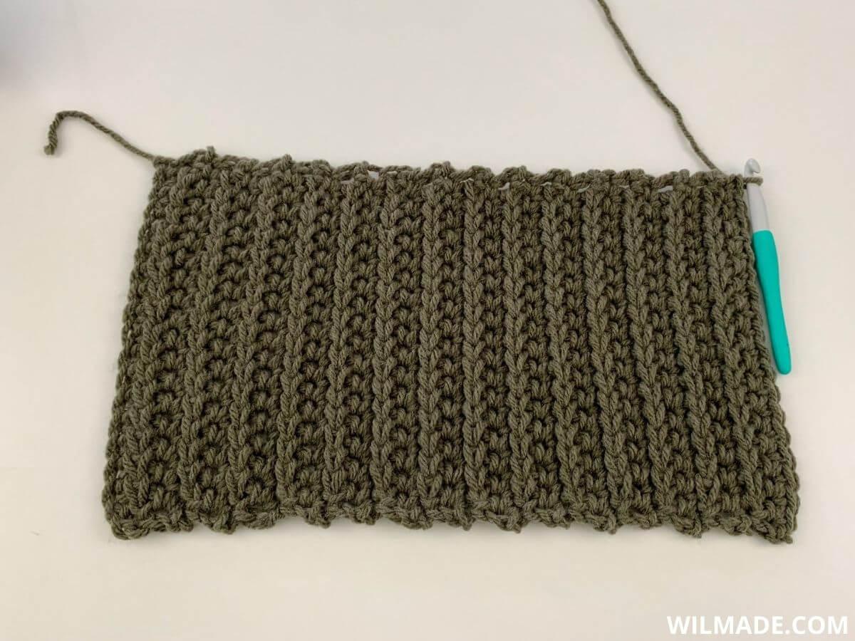 Back Post Extended Single Crochet