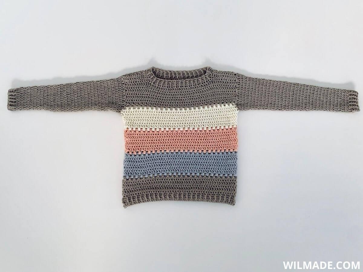 Crochet sweater for beginners - free crochet pattern