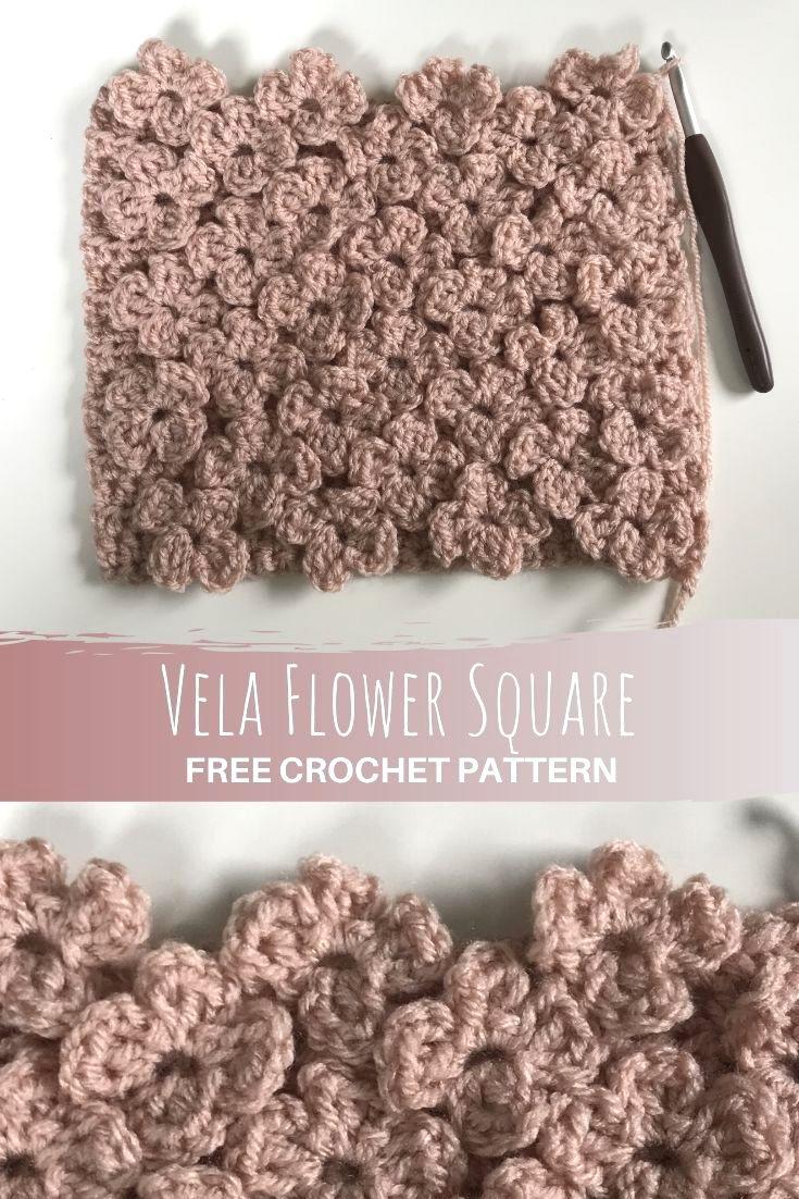 Vela Flower Square Pinterest Pin crochet pattern
