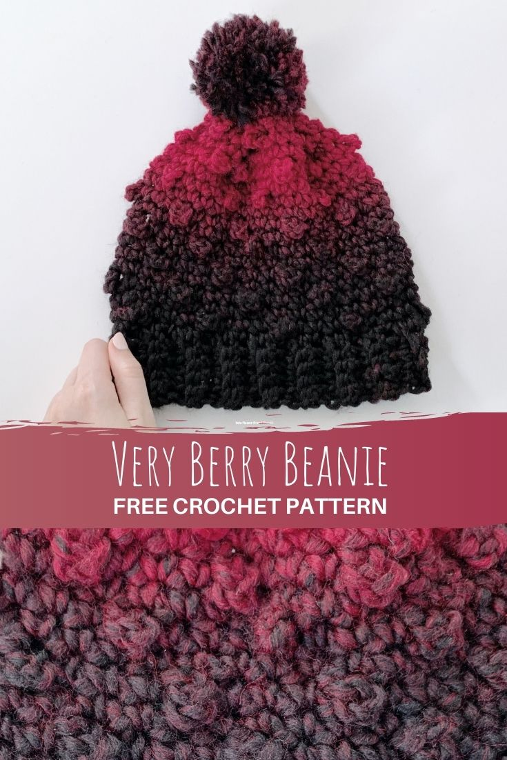 Very berry beanie - pinterest pin