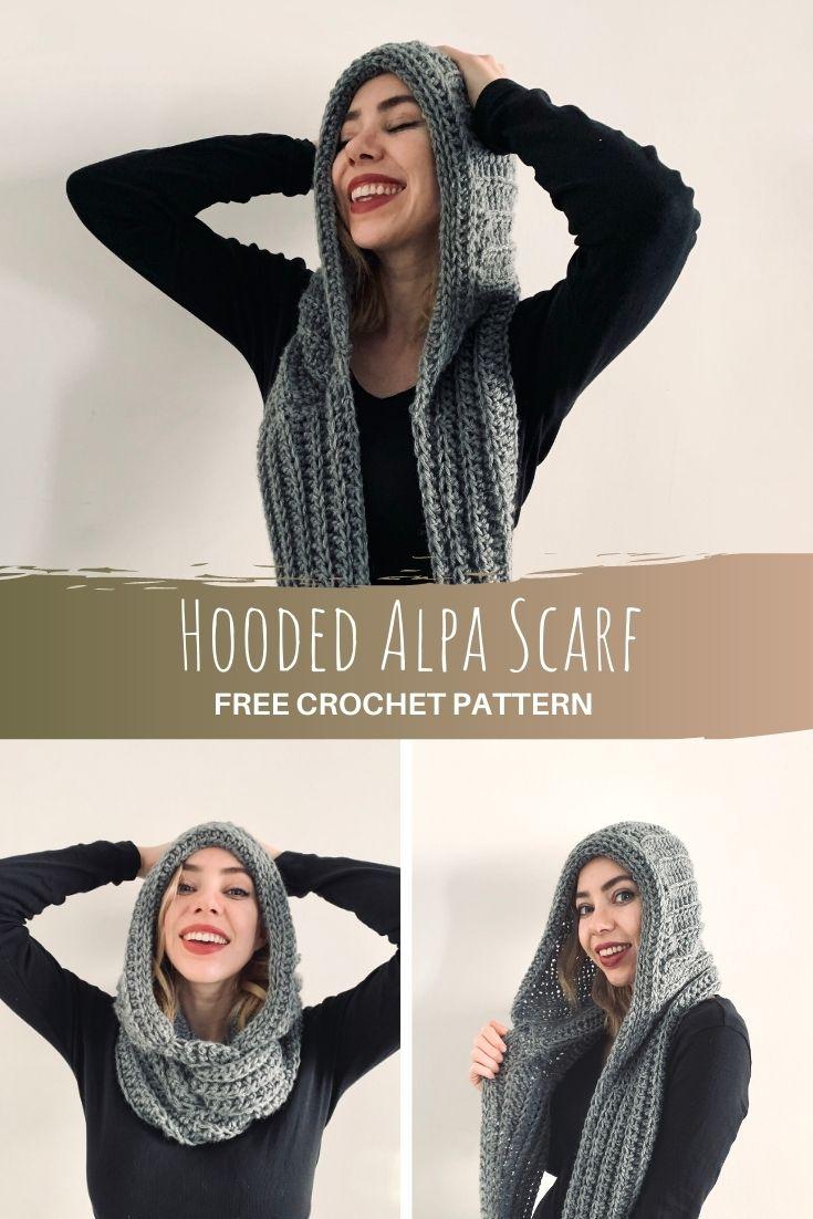 Hooded Alpa Scarf - pinterest pin