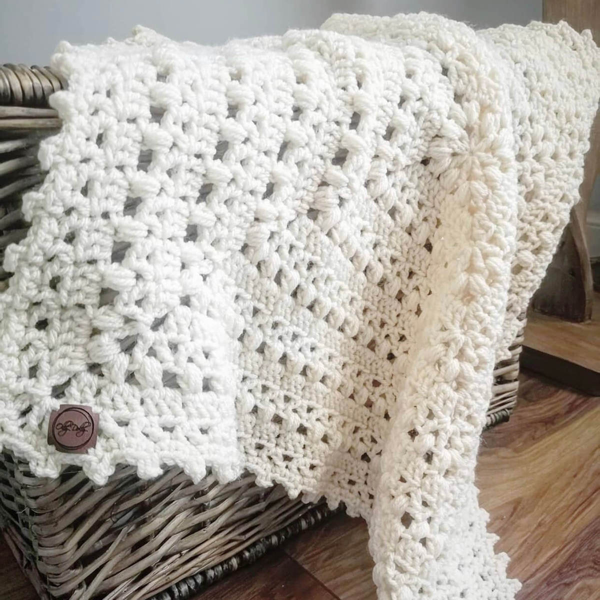 Crochet granny square baby blanket made by ollydolly_stitch - free crochet pattern by Wilmade