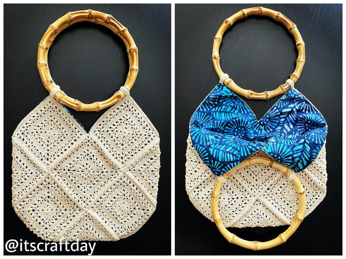 Crochet granny square bag made by itscraftday - free crochet pattern by Wilmade