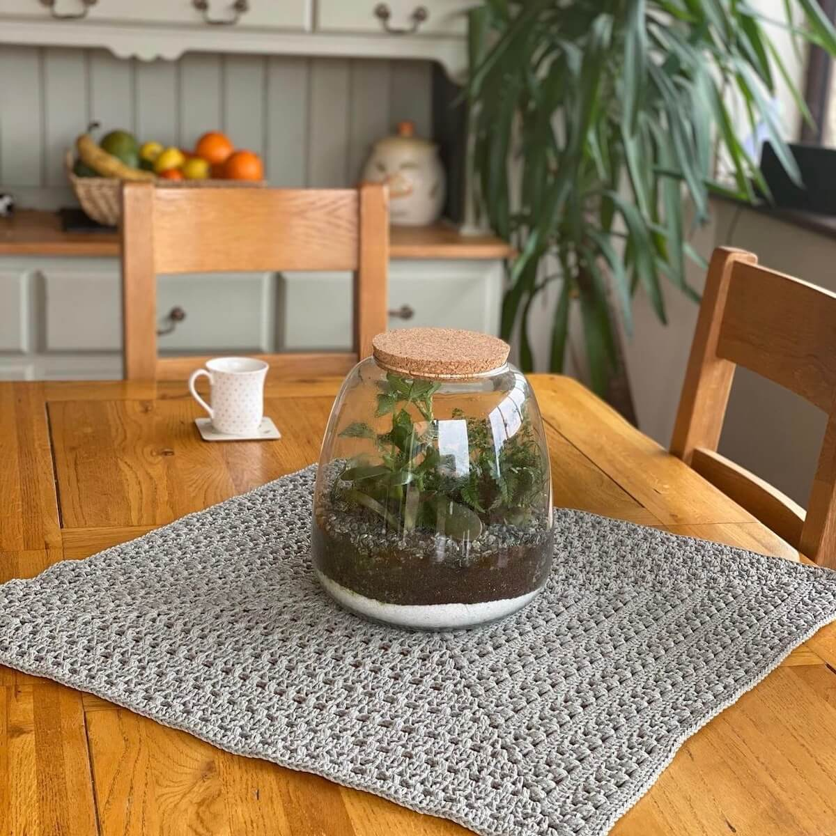 Crochet granny square dining table mat made by woolly_fingers - free crochet pattern by Wilmade