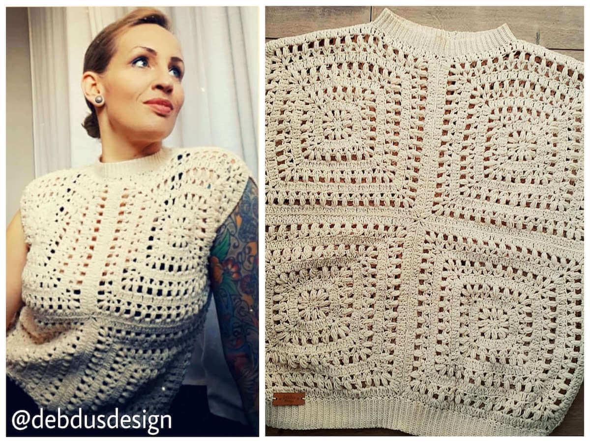 Tulips afghan top by DenDusDesigns - free crochet pattern by Wilmade