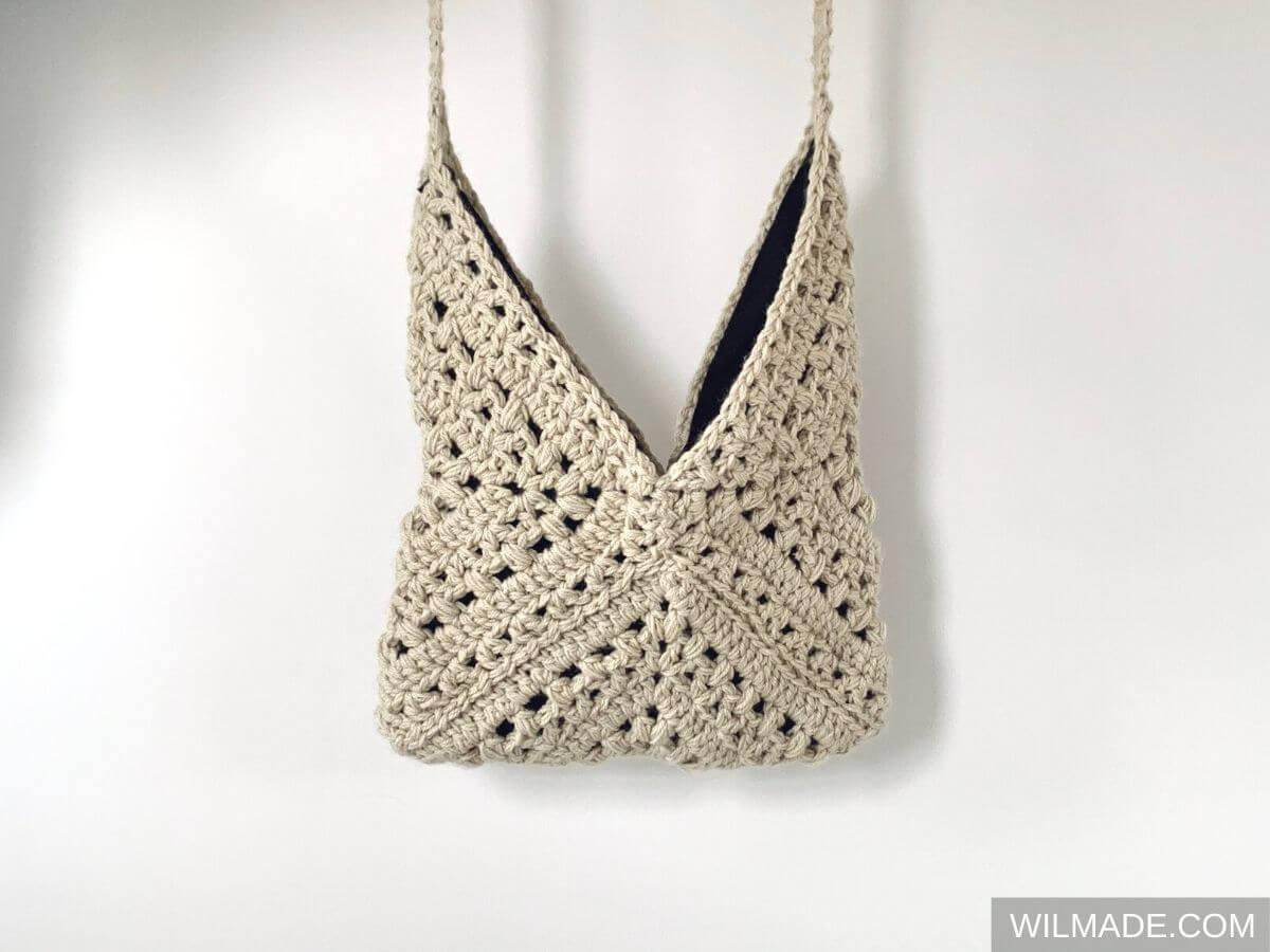 Crochet granny square bag - free crochet pattern on wilmade.com