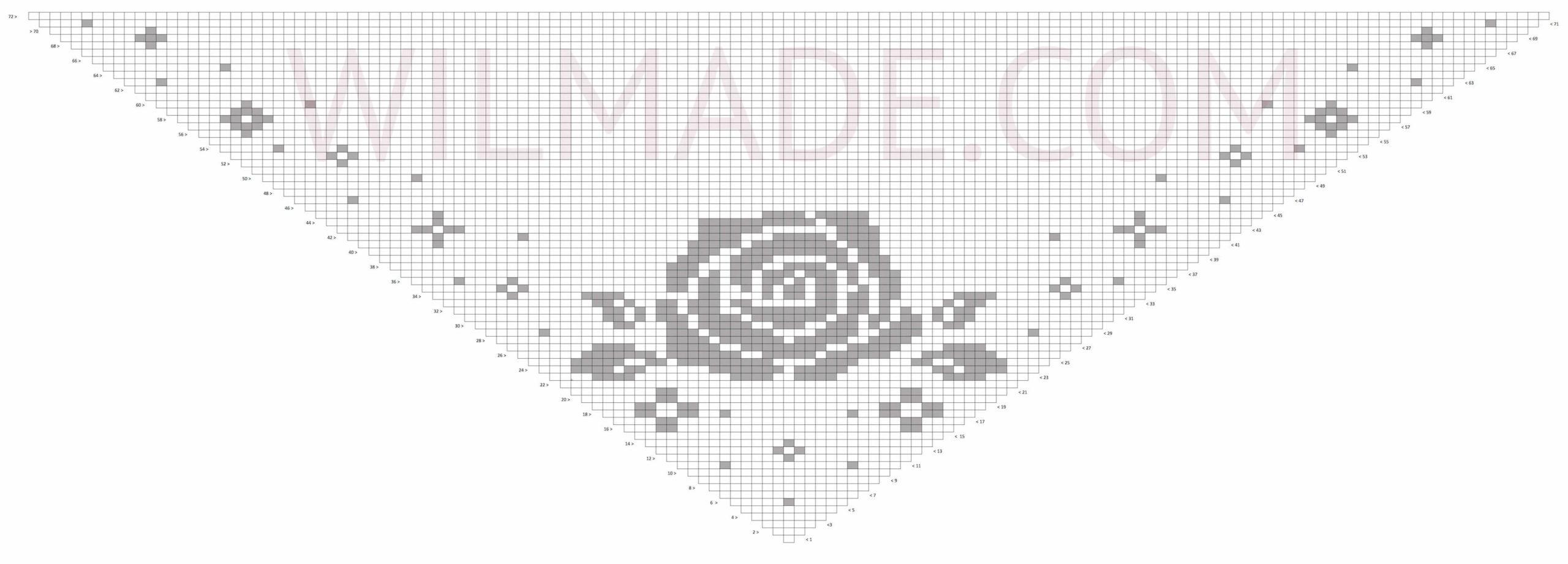 Filet crochet roses triangle shawl - free crochet pattern